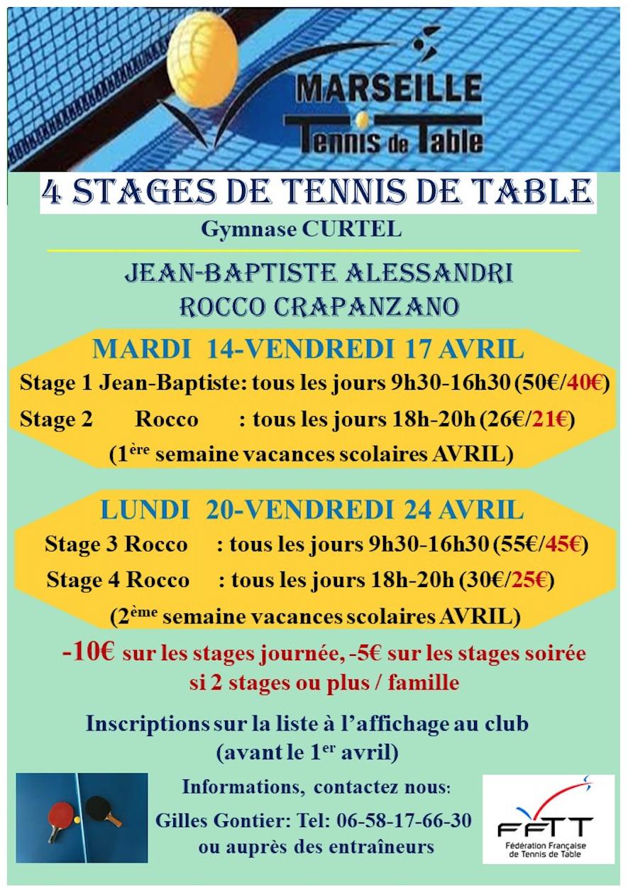 Stages et animations marseille tennis de table - Calculateur de points tennis de table ...